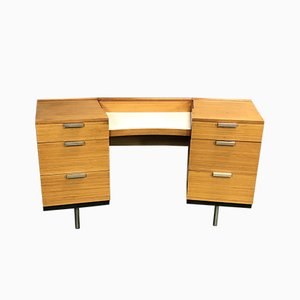 Blonde Mahogany Desk, 1970s