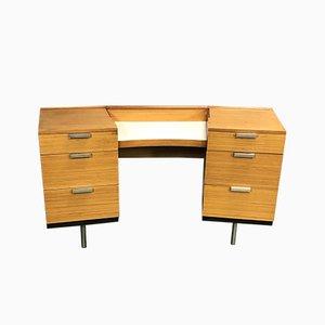 Escritorio de madera de caoba rubio , años 70
