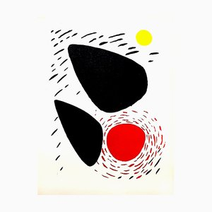 Rocks and Sun Lithograph by Alexander Calder, 1952