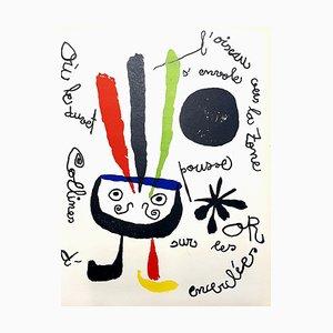Lithographie Couleur Oiseau par Joan Miro, 1952