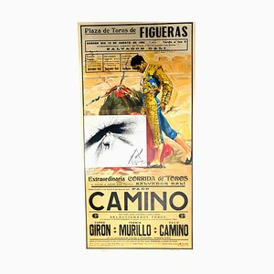 Vintage Corrida Poster with Etching by Salvador Dali, 1961