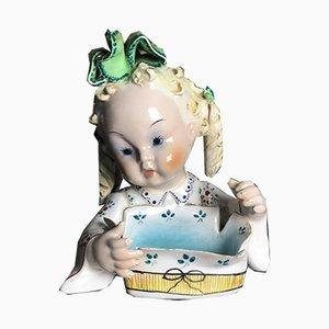 Vide-Poche italiano Mid-Century de porcelana de G. Girardi
