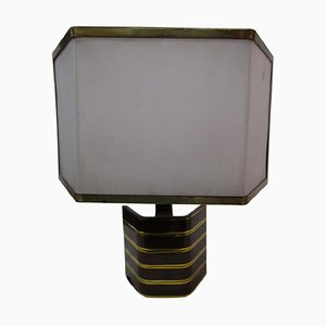 Tischlampe aus massivem Messing, 1970er