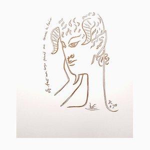 Reflections Lithografie von Jean Cocteau, 1958
