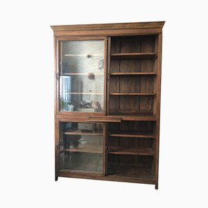 Chestnut Wood Bookcase, 1940s