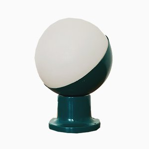 Lampada da tavolo Space Age vintage in vetro opalino di Kaiser Leuchten, anni '60
