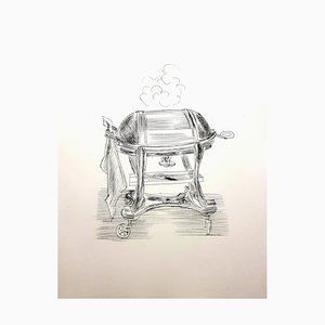 Gravure à l'Eau-Forte Cuisine par Raoul Dufy, années 40