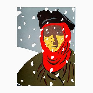 Litografía Resistance In the Snow de Eduardo Arroyo, 1984