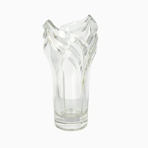 Large Vintage French Crystal Vase from Baccarat, 1970s