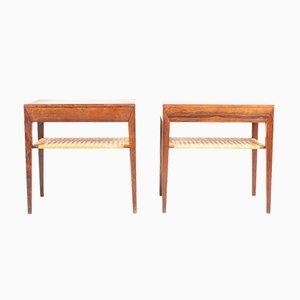Tables de Chevet Mid-Century en Palissandre par Severin Hansen pour Haslev Møbelsnedkeri, Danemark, années 60, Set de 2
