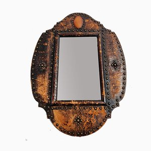 Antique Leather Mirror