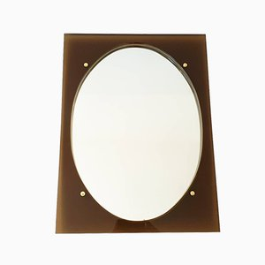 Vintage Smoked Plexiglas Mirror, 1970s