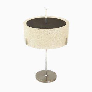 Lámpara de mesa francesa Mid-Century de resina, acero y plexiglás de Arlus, años 50