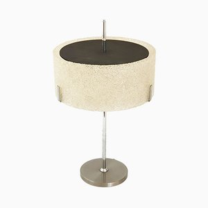 Mid-Century French Resin, Steel & Plexiglas Table Lamp from Arlus, 1950s
