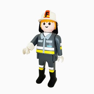 Großer Feuerwehrmann aus Kunststoff von Playmobil, 2000er