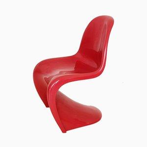 Sedia S vintage rossa di Verner Panton per Fehlbaum, 1971