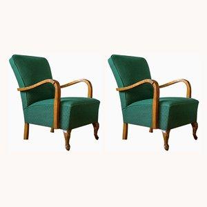Vintage Armlehnstühle im Stil des Art Déco, 1950er, 2er Set
