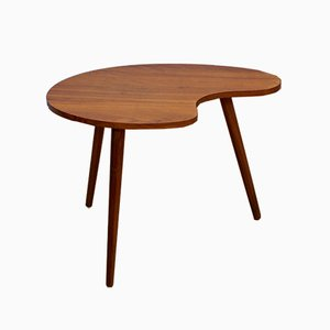 Danish Teak Kidney-Shaped Side Table, 1960s