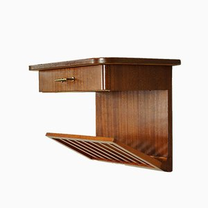 Mid-Century Swedish Wall Cabinet with Magazine Holder, 1960s