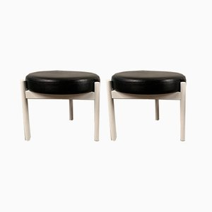 Mid-Century Danish Stools by Hugo Frandsen for Spøttrup, Set of 2