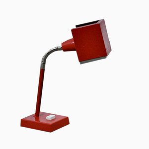 Lampe de Bureau Rouge Mid-Century