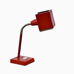 Rote Mid-Century Tischlampe