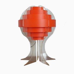 Lámpara de mesa Mid-Century de Flemming Brylle & Preben Jacobsen, años 70