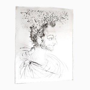 Acquaforte The Crown in seta di Salvador Dali, 1968