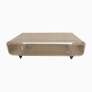 French Lucite Coffee Table, 1970s