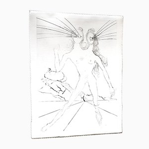 Acquaforte Bicephale su seta di Salvador Dali, 1968
