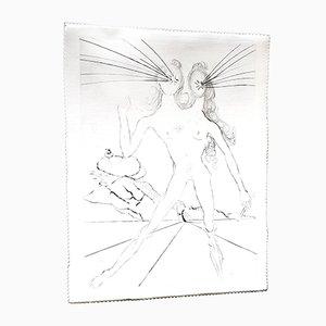 Gravure à l'Eau-Forte Bicephale sur Soie par Salvador Dali, 1968