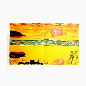 Vintage Sunset on the Mediterranean Lithograph by Pierre Bonnard
