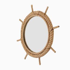 Spiegel mit Rahmen aus Seil von Adrien Audoux & Frida Minet für Vibo, 1960er