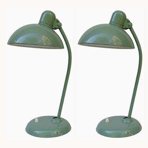 Lámparas de mesa num.6556 vintage de Christian Dell para Kaiser Idell/Kaiser Leuchten. Juego de 2