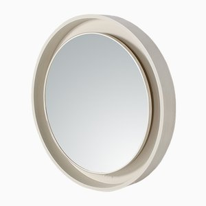 Espejo redondo grande iluminado, años 70