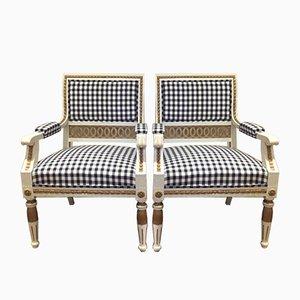 Antike gustavianische Sessel, 1898, 2er Set