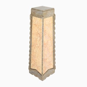 Art Deco Faux Marble & Wood Pedestal, 1920s