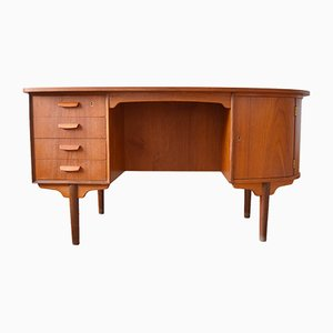 Mid-Century Teak Kidney-Shaped Desk from H.P. Hansen, 1960s