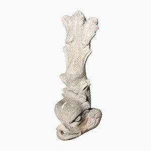 Fuente Mid-Century de piedra