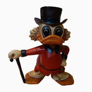 Figura publicitaria Scrooge McDuck vintage de Disney, años 50