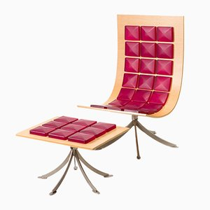 Voyager Lounge Chair & Footstool Set by Gaby Fois Dorell for Saporiti Italia, 2000s