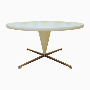 Tavolino da caffè Mid-Century cono bianco di Verner Panton per Vitra