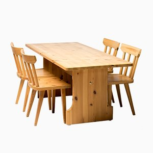 Vintage Pine Dining Set by Carl Malmsten for Karl Andersson & Söner