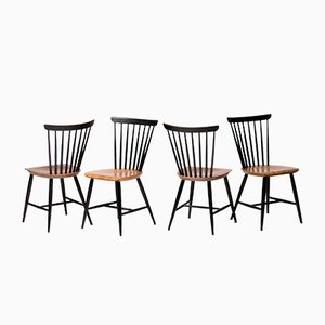 Vintage Fannett Dining Chairs by Ilmari Tapiovaara for Edsby Verken, Set of 4