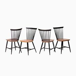Vintage Fannett Esszimmerstühle von Ilmari Tapiovaara für Edsby Verken, 4er Set