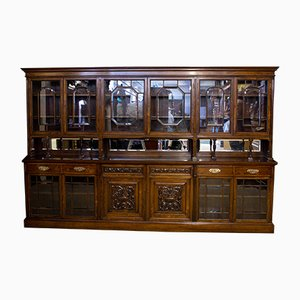 Antique Edwardian Rosewood Wall Bookcase