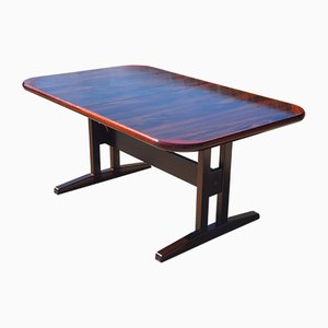 Large Mid-Century Danish Rosewood Extendable Dining Table, 1970s