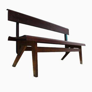 Vintage Czech Bench from Ounz Praha, 1950s