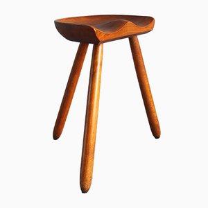 Taburete modelo Milk Chair vintage de Arne Hovmand-Olsen, años 50