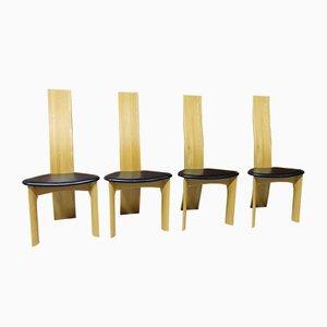 Sillas de comedor Cirkante vintage de Bob & Dries van den Berghe para Tranekær Furniture, años 80. Juego de 4